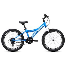 "Велосипед 20"" Forward Dakota 20 1.0, 2019, цвет синий/белый, размер 10,5"""