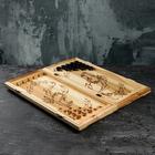 Нарды деревянные резные, ручная работа, 55х25 см, рисунок микс