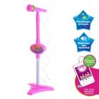 Микрофон «Ты звезда», цвет розовый, высота 80 см, в пакете