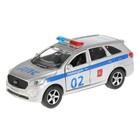 Машина Kia Sorento Prime полиция, 12 см, инерционная, открывающиеся двери, металлическая