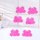 Набор мини-ковриков для ванны «Краб», 9×12 см, 6 шт, цвет МИКС