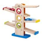 Деревянная игрушка Wonderworld, со съезжающими машинками