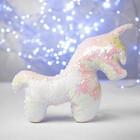 Мягкая игрушка «Единорог», пайетки, цвет перламутрово-белый
