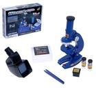 Микроскоп детский «Юный исследователь» 2 в 1 , с подсветкой, сменным дисплеем и аксессуарами