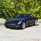 Машина радиоуправляемая Mercedes-Benz SLS AMG, масштаб 1:14, работает от аккумулятора, свет , цвет чёрный, mz 2024