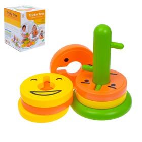 """Развивающая игрушка - пирамидка """"Весёлые рожицы"""", 8 колец"""
