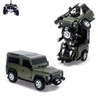 """Робот-трансформер радиоуправляемый """"Автобот"""", с аккумулятором, цвет зелёный, масштаб 1:14"""