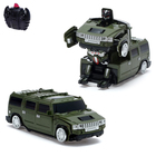 Робот-трансформер радиоуправляемый Hummer H2, ездит по стенам, масштаб 1:24, mz 2829X, цвет зелёный