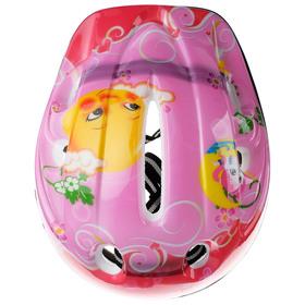 Шлем защитный детский OT-501, размер S (52-54 см), цвет розовый