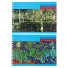 Альбом для рисования А5, 40 листов на гребне «Классика», мелованный картон, глянцевая ламинация, блок 100 г/м2, микс из 2-х видов