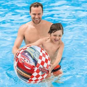 Мяч пляжный «Тачки», d=61 см, от 3 лет, 58053NP INTEX