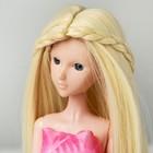 """Волосы для кукол """"Прямые с косичками"""" размер маленький, цвет 613А"""