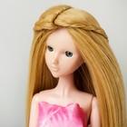 """Волосы для кукол """"Прямые с косичками"""" размер маленький, цвет 86"""