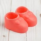 """Ботинки для куклы """"Бант"""", длина подошвы: 7,6 см, 1 пара, цвет розовый"""