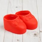 """Ботинки для куклы """"Бант"""", длина подошвы: 7,5 см, 1 пара, цвет красный"""