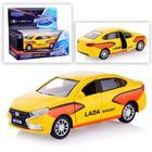 Машина металлическая «Lada Vesta спорт», масштаб 1:36