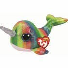 Мягкая игрушка «Кит с рогом Nori» разноцветный блестящий, 15 см