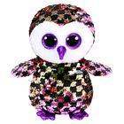 Мягкая игрушка «Сова Checks», цвет розово – чёрный, в пайетках, 15 см