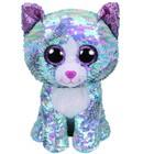 Мягкая игрушка «Кошка Whimsy», цвет голубой, в пайетках, 25 см