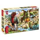Набор пазлов «Эра динозавров», 3 картинки в 1 коробке, 49 элементов