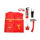 Набор пожарного «Спасатель», 7 элементов, в пакете