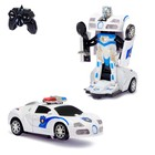 """Робот-трансформер радиоуправляемый """"Полицейский"""", световые и звуковые эффекты, в ПАКЕТЕ"""