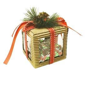 Набор для творчества - создай ёлочное украшение «Пайетки в кубе»