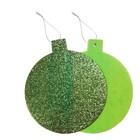 """Основа для творчества - ёлочное украшение """"Шар"""" набор 6 шт, размер 1шт: 15,5×14см, цвет зелёный"""