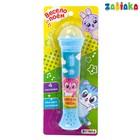 Микрофон «Весёлый зоопарк», световые и звуковые эффекты, цвет голубой