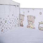 Бортик в кроватку «Мечтатели», размер 40х360 см, цвет бежевый, сатин