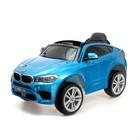 """Электромобиль """"BMW X6M"""", окраска глянец синий, EVA колеса, кожаное сидение"""