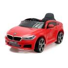 """Электромобиль """"BMW 6 Series GT"""", окраска красный, EVA колеса, кожаное сидение"""