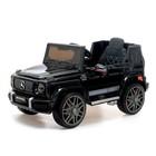 """Электромобиль """"MERCEDES-BENZ G63 AMG"""", окраска глянец черный, EVA колеса, кожаное сидение"""
