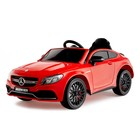 """Электромобиль """"MERCEDES-BENZ C63 S AMG"""", окраска красный, EVA колеса"""