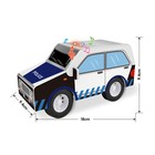 Конструктор мягкий из EVA «Полицейская машина», световые и звуковые эффекты, в пакете