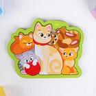 """Головоломка пазл """"Кошка с котятами"""" для самых маленьких"""