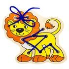 Деревянная игрушка-шнуровка «Львёнок»