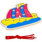 Деревянная игрушка-шнуровка «Парусник»