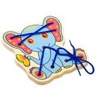 Деревянная игрушка-шнуровка «Слонёнок»