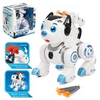 Робот-собака «Рокки», стреляет, световые эффекты, работает от батареек, цвет синий