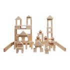 Деревянный конструктор, неокрашенный, 85 деталь, в пакете