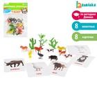 "Zabiaka Развивающий набор с карточками по методике Домана ""Домашние животные"""