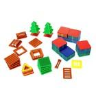 Магнитный конструктор, Новогодняя серия, 65 деталей, в пакете