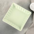 """Блюдо для запекания """"Лора"""" 18,5х18,5х5 см, цвет зеленый"""