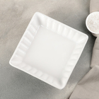 """Блюдо для запекания """"Лора"""" 18,5х18,5х5 см, цвет белый"""