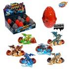 Яйцо со слаймом и игрушкой - конструктором «Битва драконов» МИКС