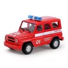 Машина инерционная «Пожарная охрана», свет и звук, в пакете