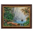 """F281-30x40 Картина из гобелена """"Кораблик в сказочном лесу"""" (35х45)"""