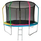 Батут 12 ft, d=366 см, фиберглас с внутренней защитной сеткой и лестницей