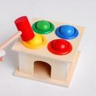 Деревянная игрушка «Стучалка» 11×11×9 см